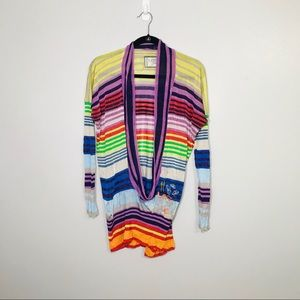 Desigual Lightweight Sweater. Plunging Neckline.